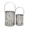 Woodland Imports 2 Piece Metal Lantern Set