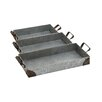 <strong>Woodland Imports</strong> 3 Piece Impressive Amazing Metal Tray Set