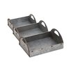Woodland Imports 3 Piece Attractive Metal Tray Set
