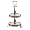 Woodland Imports The Metal Glass 2 Tier Tray