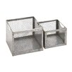 Woodland Imports 2 Piece Fascinating Metal Wire Basket Set
