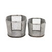 Woodland Imports 2 Piece Attractive Metal Wire Basket Set