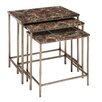 <strong>Woodland Imports</strong> 3 Piece Nesting Tables Set