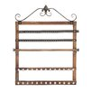 Woodland Imports Fascinating Wood Wall Mounted Jewelry Holder