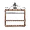 Woodland Imports Elegant Designed Wood Wall Mounted Jewelry Holder