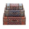 Woodland Imports 3 Piece The Withered Wood Leather Case Set