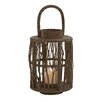 <strong>Woodland Imports</strong> Attractive Wood Glass Lantern