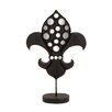 Woodland Imports Decorative The Historic Metal Mirror Fleur Di Lis Sculpture