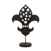 <strong>Woodland Imports</strong> Decorative The Historic Metal Mirror Fleur Di Lis