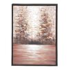 Woodland Imports The Mysterious Wood Framed Graphic Art Canvas