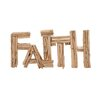 "Woodland Imports Unique and Exquisite Driftwood ""Faith"" Letter Block Wall Décor"