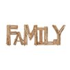 "Woodland Imports Creative Styled Striking Driftwood ""Family"" Letter Block Wall Décor"