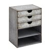 Woodland Imports Fascinating Stylish Metal Shelf with Drawers