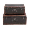 Woodland Imports Rustic 2 Piece Metal Case Set