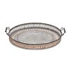 Woodland Imports Antique Styled Fancy Metal Tray