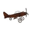 <strong>Woodland Imports</strong> Fascinating Styled Wood Metal Airplane Sculpture