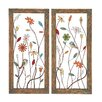 Woodland Imports 2 Piece Striking Styled Metal Wall Panel