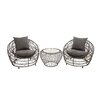 <strong>Woodland Imports</strong> Grand 3 Piece Deep Seating Group