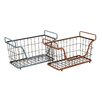 Woodland Imports The Amazing Metal Basket (Set of 2)