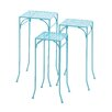 Woodland Imports 3 Piece Metal Plant Stand Set