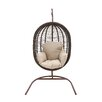 Woodland Imports The Lovely Metal Rattan Porch Swing