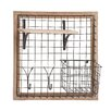 <strong>Woodland Imports</strong> Enthralling Wood Metal Wall Strong Rack