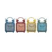 Woodland Imports The Distressed but Colourful Metal Desk Clock Set (Set of 4)