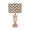 """Woodland Imports Glass 26"""" H Table Lamp with Drum Shade"""
