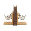 <strong>Woodland Imports</strong> Cool Rhino Book End (Set of 2)