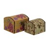 <strong>Mesmerizing 2 Piece Wood Canvas Box Set</strong> by Woodland Imports