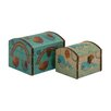 <strong>Woodland Imports</strong> 2 Piece Classy Wood Canvas Box Set