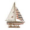 <strong>Woodland Imports</strong> Attractive Styled Wood Rope Sailing Boat