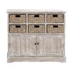 <strong>Wood 6 Basket Cabinet</strong> by Woodland Imports