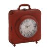 <strong>Antique Styled Fascinating Metal Table Clock</strong> by Woodland Imports