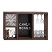 <strong>Useful Metal Wall Clock Wine Rack</strong> by Woodland Imports