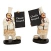 Woodland Imports 2 Piece The Cutest Chef Figurine Chalkboard Set