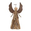 Woodland Imports Wood-Look Angel with Halo