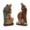 Woodland Imports 2 Piece Holy Family and Three Wise Men Set
