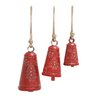 Woodland Imports 3 Piece Long Christmas Bell Set