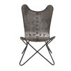 Woodland Imports Ingenious in Conception Metal Stitched Side Chair