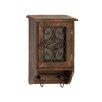 Woodland Imports Beautiful Wood Glass Metal Key Box