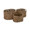 Woodland Imports 3 Piece Simply Beautiful Seagrass Basket Set