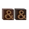 Woodland Imports Distinct and Different Wood Sign Letter Block (Set of 2)