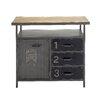 Woodland Imports Metal Wood Utility Cabinet