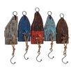 Woodland Imports Vintage Wood Metal Wall Hook
