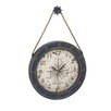 "Woodland Imports Classic Designed Metal Wood Oversized 37"" Wall Clock"