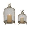 Woodland Imports 2 Piece Metal Candle Lantern Set