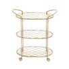 Woodland Imports Fancy Serving Cart