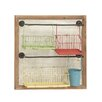 Woodland Imports Exclusive Metal Wood Wall Storage Rack
