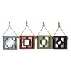 Woodland Imports 4 Piece Simply Lovely Wood Wall Mirror Set